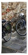 Bicycles In Rome Beach Towel