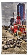 Bicycles In Rotterdam, Netherlands Beach Towel