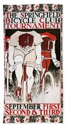 Bicycling Poster, 1896 Beach Towel