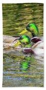 Bidwell Ducks In Fall Beach Towel