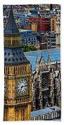 Big Ben And Westminster Abbey Beach Towel