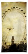 Big Ben In The London Eye Beach Towel