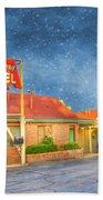 Big Bunny Motel Beach Towel by Juli Scalzi