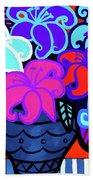 Big Colorful Lillies 2 Beach Towel