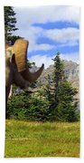 Big Horn 3 Beach Towel