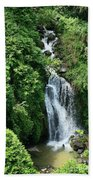Big Island Waterfall Beach Towel
