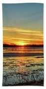 Big Marsh Sunset 2 Beach Towel