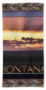 Big Montana Sky Beach Towel