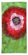 Big Red Flower Beach Towel