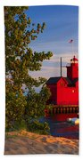 Big Red Lighthouse Beach Towel