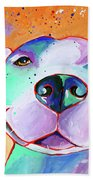 Big Smile - Dog Art By Valentina Miletic Beach Towel