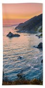 Big Sur Evening Beach Towel