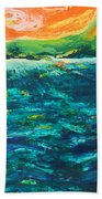 Big Tropical Wave Beach Towel