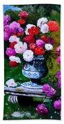 Big Vase With Peonies Beach Sheet
