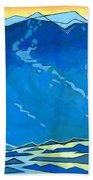 Big Wave Beach Towel by Douglas Simonson