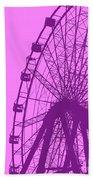 Big Wheel Purple Beach Towel