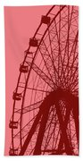 Big Wheel Red Beach Towel
