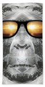 Bigfoot In Shades Beach Towel