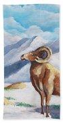 Bighorn Kam Beach Towel