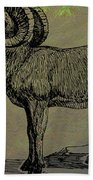 Bighorn Sheep  Beach Towel