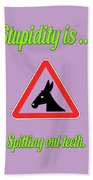 Spitting Bigstock Donkey 171252860 Beach Towel