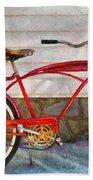Bike - Delivery Bike Beach Towel by Mike Savad