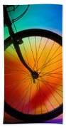 Bike Silhouette Beach Towel