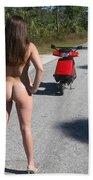 Biker Chick 115 Beach Towel