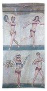 Bikini Girls Mosaic Beach Towel