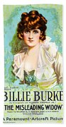 Billie Burke In The Misleading Widow 1919 Beach Towel