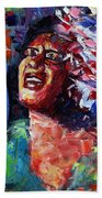 Billie Holiday Live Beach Towel