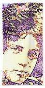 Billy Joel Pop Art Beach Towel