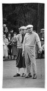 Bing Crosby And Ben Hogan Beach Towel