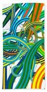 Bipolar Mania Rollercoaster Abstract Beach Towel