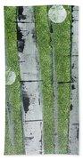 Birch - Green 1 Beach Towel by Jacqueline Athmann