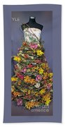 Birch And Orchid Twig Dress Exhibit Piece Beach Towel