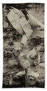 Birch Bark Detail Monotone Img_6361 Beach Towel