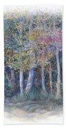 Birch Tree Gathering Beach Towel