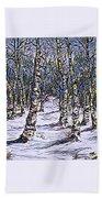 Birch Tree Mosaic 2 Beach Towel