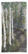 Birch Trees Along Kennys Road  2 Beach Towel