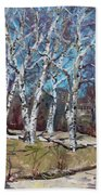 Birch Trees Next Door Beach Towel