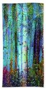 Birch Woods Beach Towel