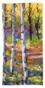 Birches 02 Beach Towel