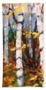 Birches 03 Beach Towel