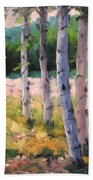 Birches 04 Beach Towel