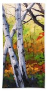 Birches 05 Beach Towel