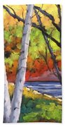 Birches 06 Beach Towel