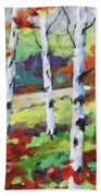 Birches 07 Beach Towel