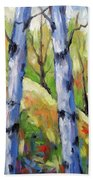 Birches 09 Beach Towel