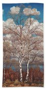 Birches In The Spring Beach Towel
